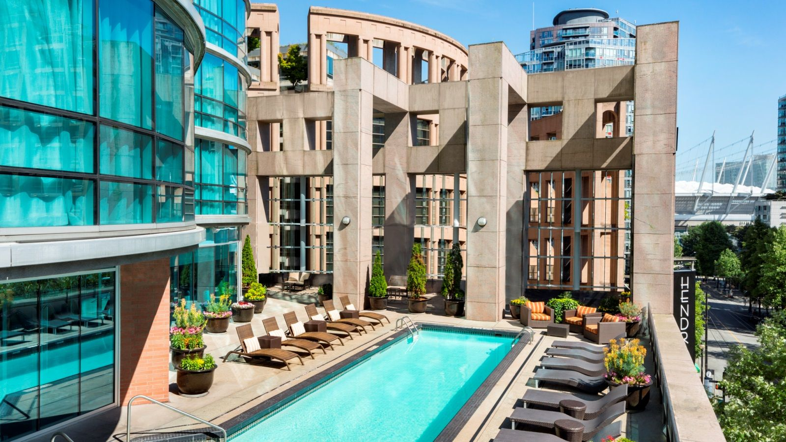 Heated Outdoor Pool on Rooftop of The Westin Grand, Vancouver
