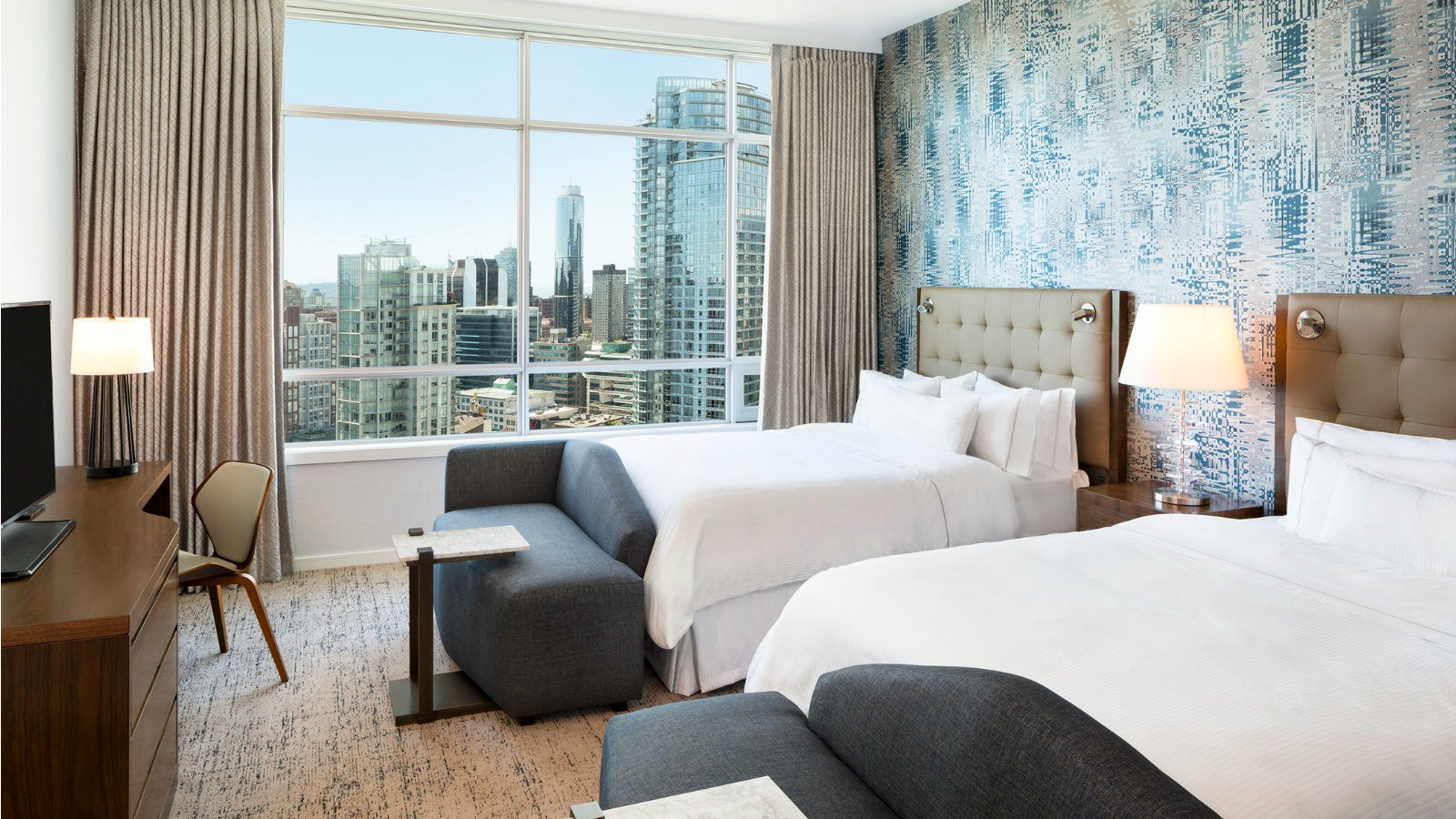 The Westin Grand, Vancouver - Premier View Studio Rooms with Two Queens